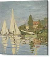 Regattas At Argenteuil Canvas Print