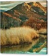 Reginu River And Punta Di Paraso Canvas Print