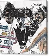 Rick Mears And Roger Penske At Indianapolis Canvas Print
