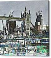 River Thames Sketch Canvas Print