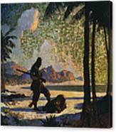 Robinson Crusoe, 1920 Canvas Print