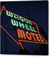 Route 66 - Wagon Wheel Motel Canvas Print