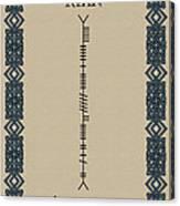 Ryan Written In Ogham Canvas Print