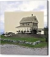Sakonnet Point In Little Compton Rhode Island Canvas Print