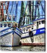 Shrimp Boats Season Canvas Print