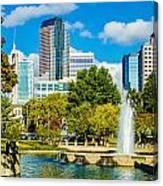 Skyline Of A Modern City - Charlotte North Carolina Usa Canvas Print