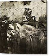 Sleeping Woman, C1900 Canvas Print