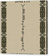 Smith Written In Ogham Canvas Print
