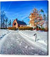 Snow Around Billy Graham Library After Winter Storm Canvas Print