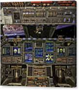 Space Shuttle Cockpit Canvas Print