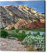 Spring Storm Over Split Mountain Dinosaur National Monument Canvas Print