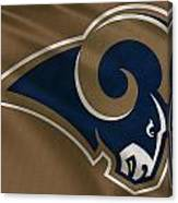 St Louis Rams Uniform Canvas Print