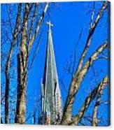 St. Marys Church Steeple Of St Marys Church Canvas Print