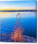 Sunset At Lake Wylie Canvas Print