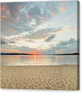Sunset On South Bay, Lake Superior Canvas Print