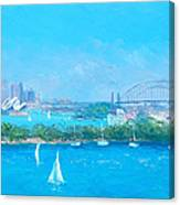 Sydney Harbour And The Opera House By Jan Matson Canvas Print