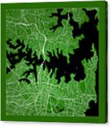 Sydney Street Map - Sydney Australia Road Map Art On Color Canvas Print