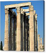 Temple Of Olympian Zeus In Athens Canvas Print