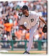 Texas Rangers V Detroit Tigers 3 Canvas Print
