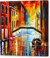 The Canals Of Venice Canvas Print