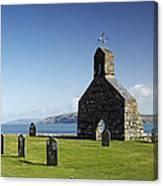 The Ruined Church Of St Brynach At Cwm Yr Eglwys Canvas Print