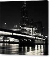 The Shard And London Bridge Canvas Print
