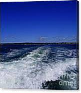 The Wake Of The Island Queen Canvas Print