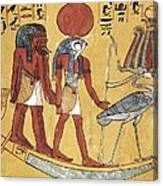 Tomb Of Sennedjem. 1306 -1290 Bc Canvas Print