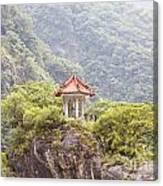 Traditional Pavillion Atop Cliff Canvas Print