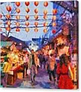 Traditional Shopping Area Canvas Print