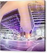 Tulsa City Skyline Around Downtown Streets Canvas Print