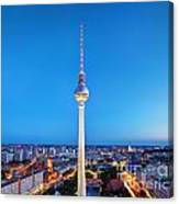 Tv Tower Or Fersehturm In Berlin Canvas Print