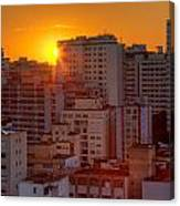 Twilight In Sao Paulo Canvas Print