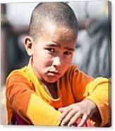 Uighur Child At Kashgar Market Xinjiang China Canvas Print