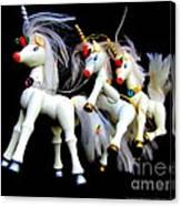 3 Unicorns Romping Canvas Print