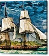 Us Brig Niagra  Canvas Print