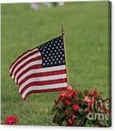 Us Flag On Memorial Day Canvas Print