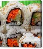 Vegetable Sushi Canvas Print