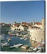 View Of Dubrovnik In Croatia Canvas Print