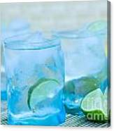 Water In Blue Canvas Print