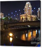 Waterfire. Providence Rhode Island Canvas Print