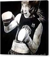 Woman's Boxing Champion Filipino American Ana Julaton Canvas Print