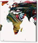 World Map And Human Life Canvas Print