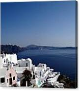 Views Of Santorini Greece Canvas Print