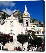 Views Of Taormina Sicily Canvas Print