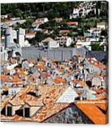 Views Of Dubrovnik Croatia Canvas Print