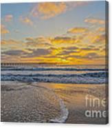 Ocean Beach Pier Sunset Canvas Print