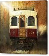 321 Antique Passenger Train Car Textured Canvas Print