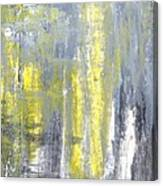 Placed - Grey And Yellow Abstract Art Painting Canvas Print