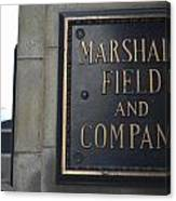 Marshall Field's Store Canvas Print